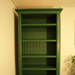 bookcase made from old victorian door