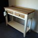 console table, oak
